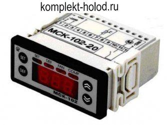 Контроллер МСК-102-20 (в комплекте с 2 датчиками NTC)