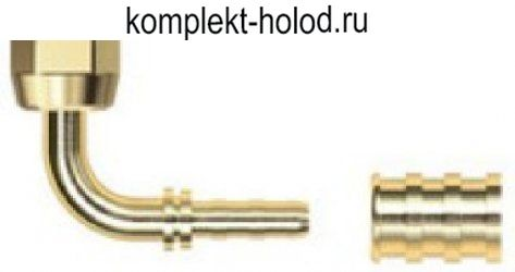 Комплект углового фитинга CF-762 DN6 Cold-flex