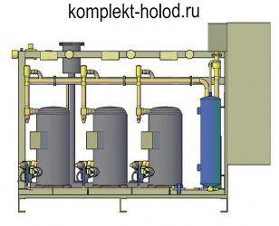 Низкотемпературный холодильный агрегат MTL-3.ZF 13